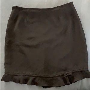 Simple Rayon Black Skirt